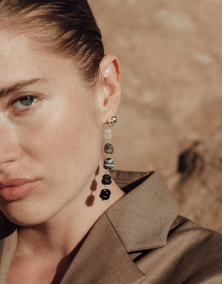 Cled Shades of Nature Basalt Earrings