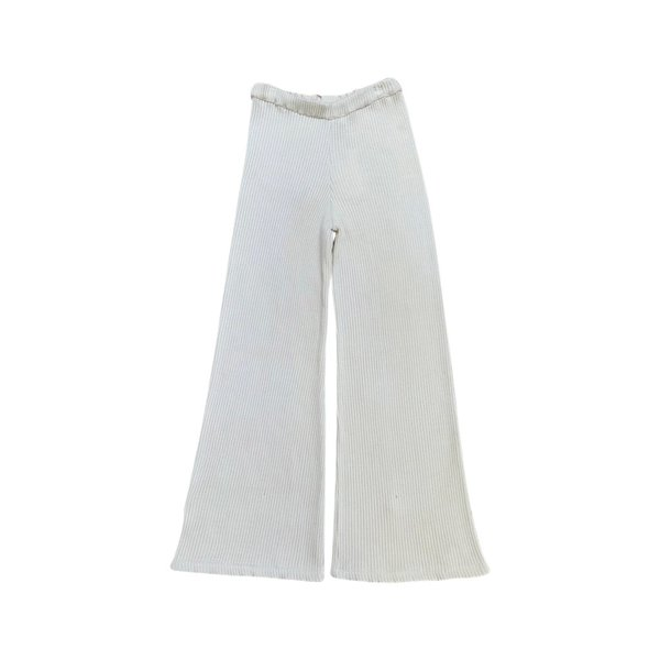 Feather Drum CROPPED WIDE LEG PANT - CHALK