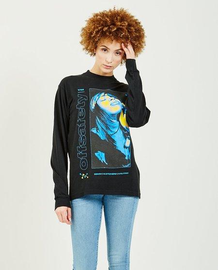 OFF SAFETY Aaliyah Sunkist Long Sleeve Tee - Black