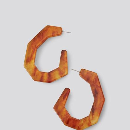 Rachel Comey Factor Earrings - Flame Marble