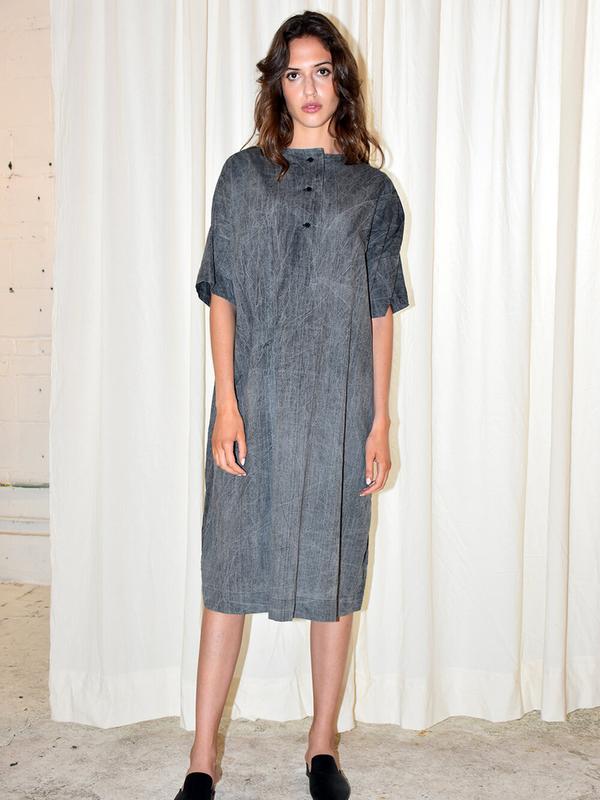 Uzi NYC Placket Dress in Acid