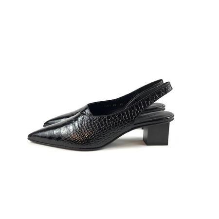 Freda Salvador Marigold Mid Heel - Black Croc