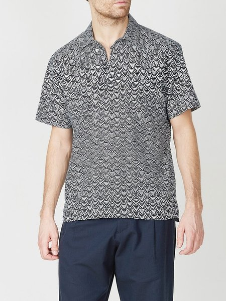 Oliver Spencer Yarmouth Shirt - Fan Navy