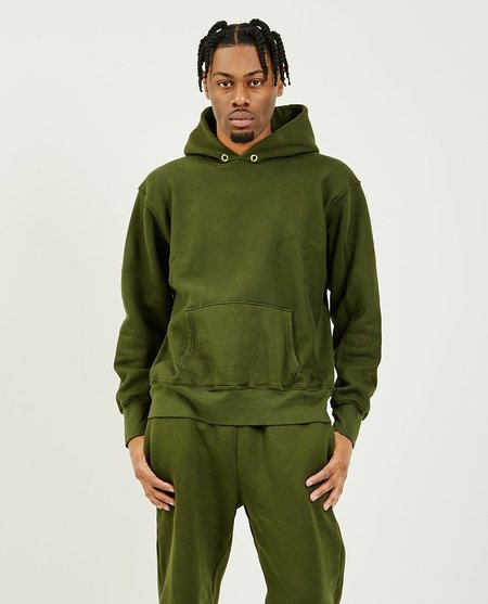 Les Tien Cropped Hoodie - Forest