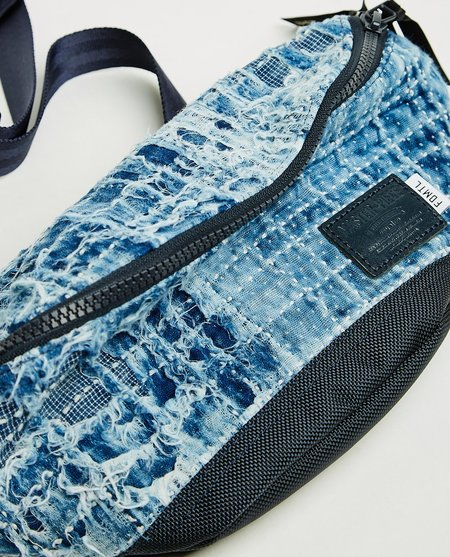 FDMTL x master-piece Sashiko Waist Bag - Indigo