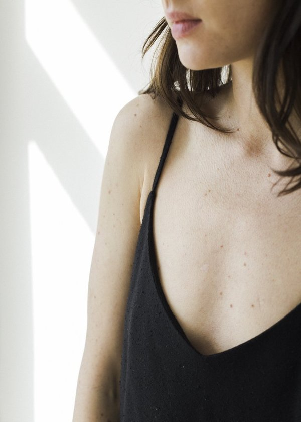 Ozma Bias Slip Dress - Black