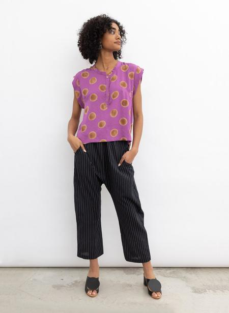 Seek Collective Kerry Top - orchid polka dot