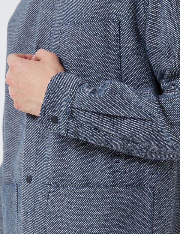 Folk Clothing Folk Assembly Jacket - Navy/Ecru Twill