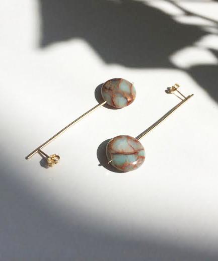 Baleen Opal Pendulum Drop Earrings