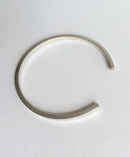 Baleen Silver Simple Cuff