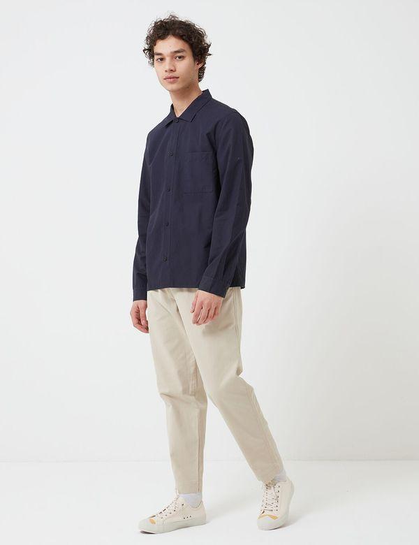 Folk Clothing Folk Emboss Shirt - Navy Blue