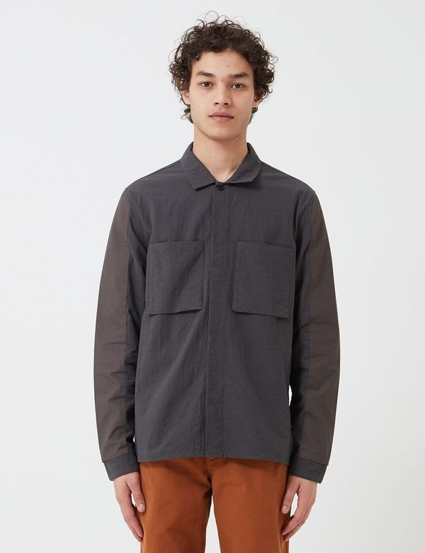 Folk Clothing Folk Overlay Overshirt - Charcoal
