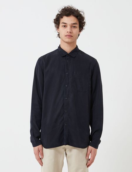 Folk Clothing Soft Stitch Pocket Shirt - Navy Blue