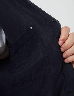 Folk Clothing Soft Stitch Pocket Shirt - Navy Blue