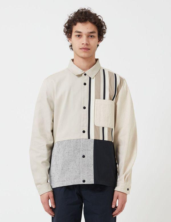 Folk Clothing Warp Jacket - Stone Black Patchwork