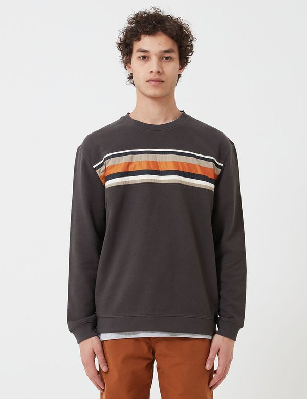 Folk Clothing Folk Warp Sweatshirt - Charcoal