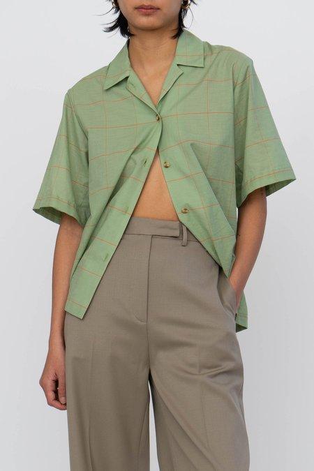 Index Series Shortsleeve Toulon Shirt - Green Plaid