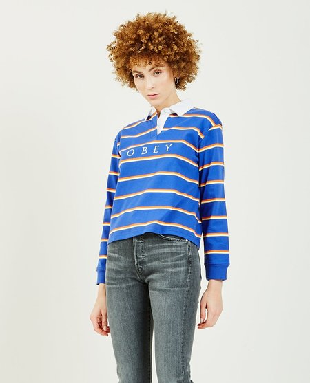 Obey Noble Cropped Rugby - Blue