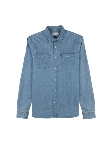 Cuisse de Grenouille Jacob Shirt- Blue Denim