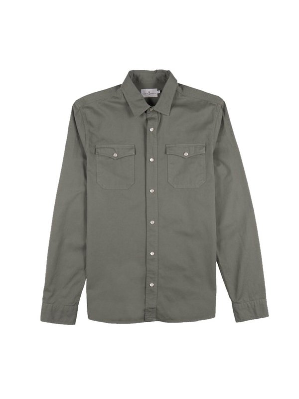 Cuisse de Grenouille Jacob Shirt- Green Algea