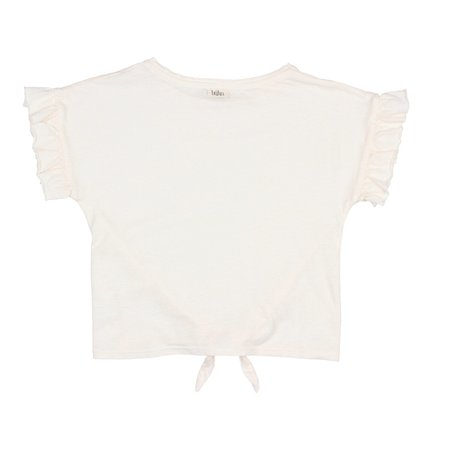 Búho Janine Tied T-Shirt in White
