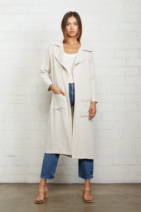 Rachel Pally Linen Cary Trench - Natural