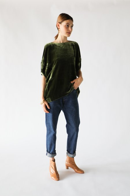 ARCH THE Puff-Sleeve Top in Olive