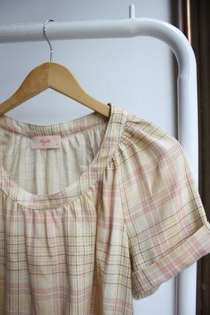 Myrtle Ann Blouse - Pink Plaid