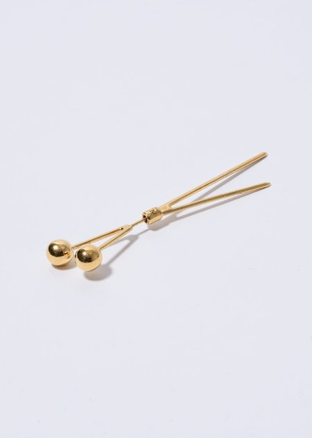 Alan Crocetti 2 Pin Earring - Gold
