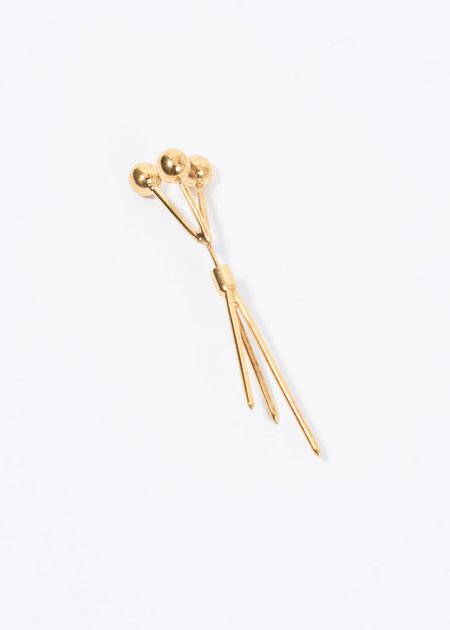 Alan Crocetti 3 Pin Earring - Gold