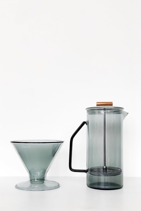 yield design co Glass French Press - Gray