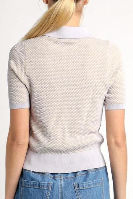 Current Air Lila Collared Top - Lavender