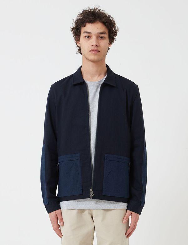 Folk Clothing Overlay Jacket - Navy Blue