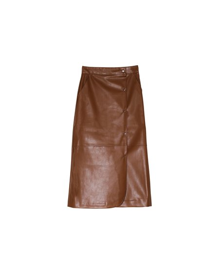 R2W Soul Faux Leather Skirt - Caramel