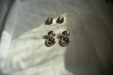 Vintage drop earrings - Metallic