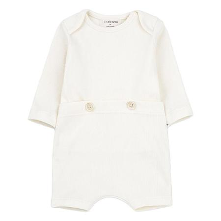 Kids 1+ In The Family Bono Jumpsuit - Ecru Cream