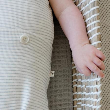 Kids 1+ In The Family Baby Elmo Romper - Ecru/Cream Stripes