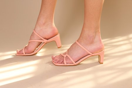 """""""INTENTIONALLY __________."""" Willow Sandal - Peach"""