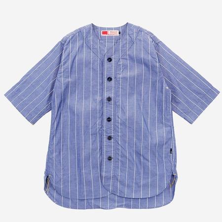Pallet Life Story Koi-Kuchi 3Q Baseball Shirt - Blue Stripe