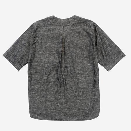 Pallet Life Story Koi-Kuchi 3Q Baseball Shirt - Grey Chambray