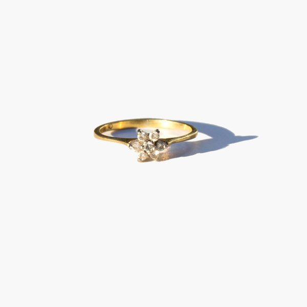 Kindred Black Vintage Akna Ring - 14K Gold