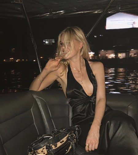 LUPE Michelle Silk Dress - Black