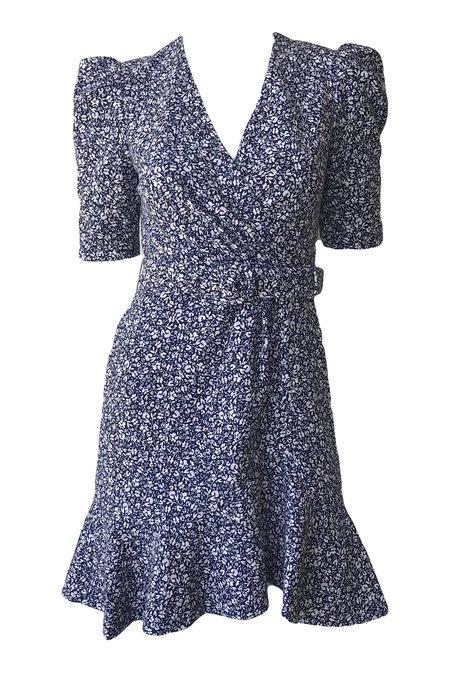Jonathan Simkhai Evelyn Floral Crepe Dress - Midnight