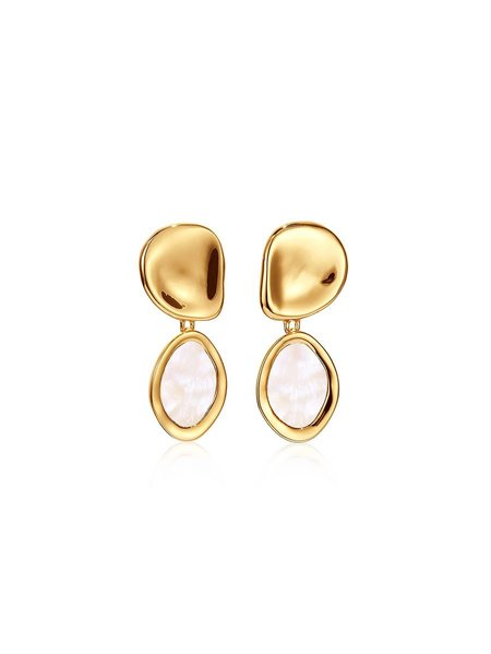 Jenny Bird Mithras Mother of Pearl Earrings - Gold