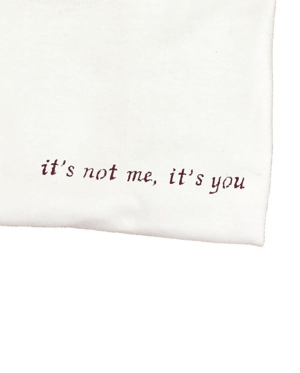 House of 950 embroidery it's not me, it's you Tee shirt