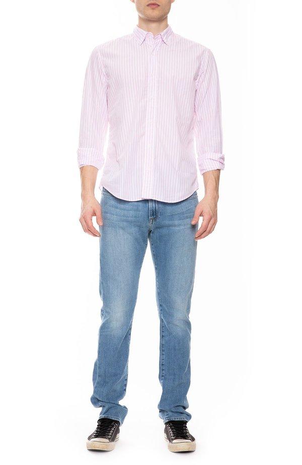 Frank & Eileen Finbar Cotton Multi Stripe Shirt - Pink
