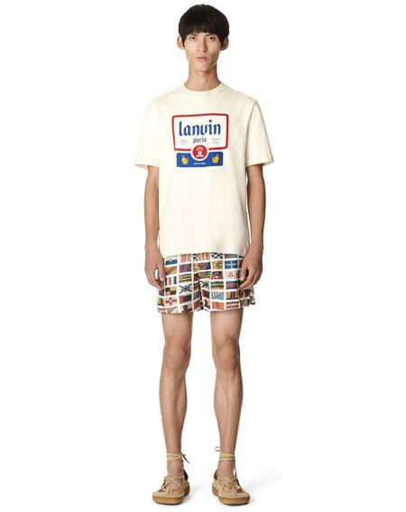 Lanvin Beer Label Print T-Shirt