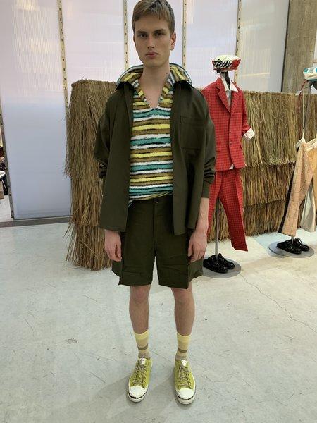 Marni Oversized Ripstop Wool Dress Shirt