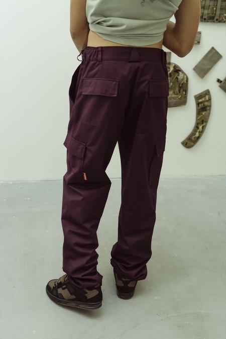 GR10K Purple KLOPMAN Double Pocket Stock Cargo Pant