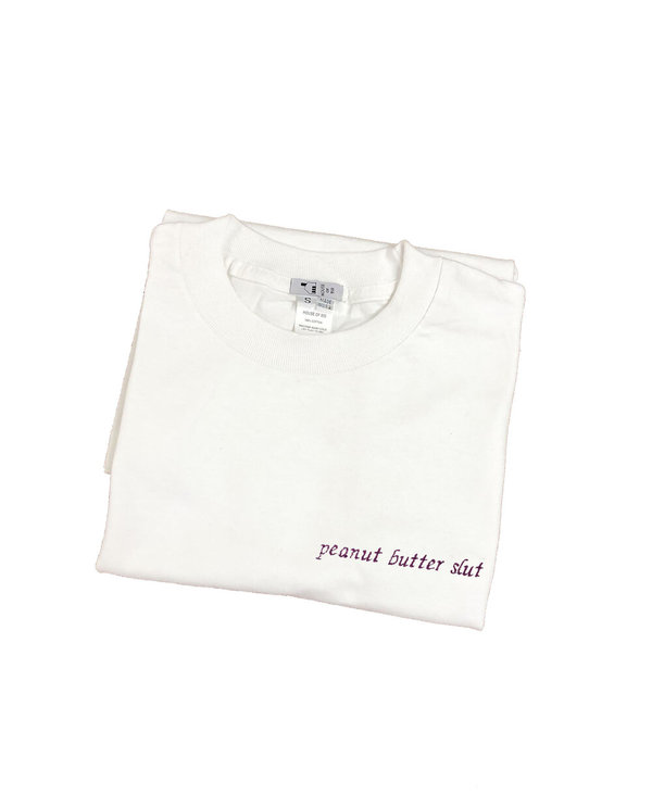 House of 950 embroidery peanut butter slut tee shirt